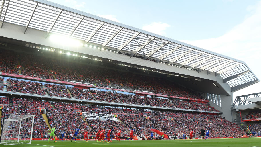 LIVERPOOL, ENGLAND - SEPTEMBER 10: General view of the new stand during the Premier League match between Liverpool and Leicester City at Anfield on September 10, 2016 in Liverpool, England.  (Photo by Michael Regan/Getty Images)