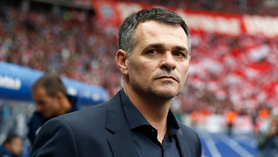 Bayern Munich's French interim head coach Willy Sagnol arrives for the German first division Bundesliga football match between Hertha Berlin and FC Bayern Munich in Berlin, on October 1, 2017 / AFP PHOTO / Odd ANDERSEN / RESTRICTIONS: DURING MATCH TIME: DFL RULES TO LIMIT THE ONLINE USAGE TO 15 PICTURES PER MATCH AND FORBID IMAGE SEQUENCES TO SIMULATE VIDEO. == RESTRICTED TO EDITORIAL USE == FOR FURTHER QUERIES PLEASE CONTACT DFL DIRECTLY AT + 49 69 650050         (Photo credit should read ODD ANDERSEN/AFP/Getty Images)
