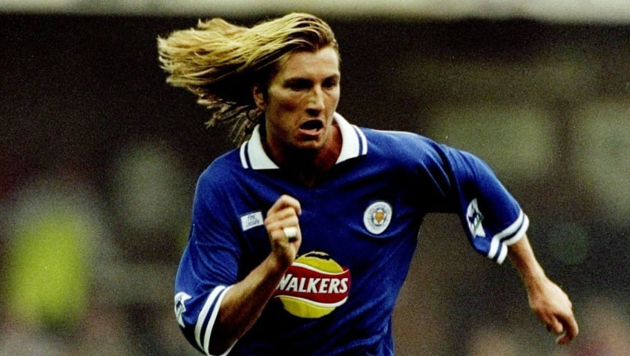 27 Sep 1998:  Robbie Savage of Leicester in action during the FA Carling Premiership game against Wimbledon at Filbert Street, Leicester, England. The game was drawn 1-1. \ Mandatory Credit: Ross Kinnaird /Allsport