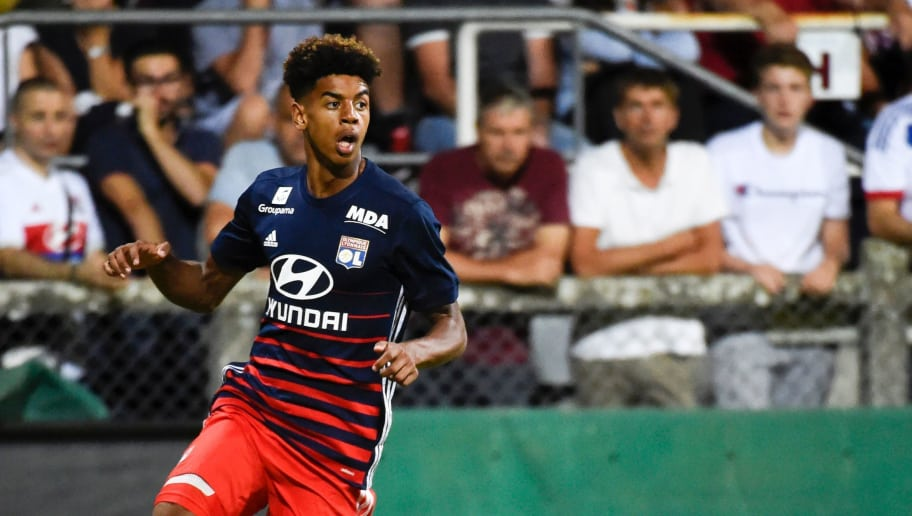 Lyon's forward Willem Geubbels controls the ball during a friendly football match between Olympique Lyonnais and Ajax Amsterdam on July 18, 2017 at the Pierre Rajon stadium in Bourgoin-Jallieu.  / AFP PHOTO / JEAN-PHILIPPE KSIAZEK        (Photo credit should read JEAN-PHILIPPE KSIAZEK/AFP/Getty Images)