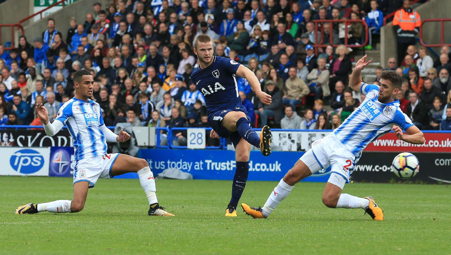 325459a63 Tottenham Hotspur s English defender Eric Dier (C) has an unsuccessful shot  during the English