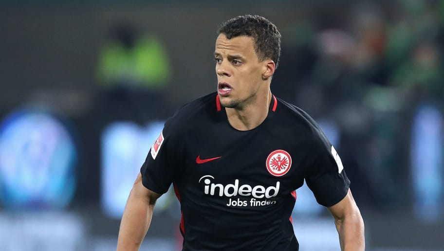 WOLFSBURG, GERMANY - JANUARY 20: Timothy Chandler of Frankfurt runs with the ball during the Bundesliga match between VfL Wolfsburg and Eintracht Frankfurt at Volkswagen Arena on January 20, 2018 in Wolfsburg, Germany. (Photo by Ronny Hartmann/Bongarts/Getty Images)