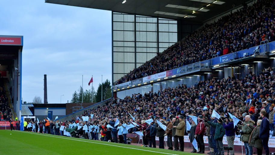 BURNLEY, ENGLAND - NOVEMBER 18: Burnley FC celebrate Premier League Diversity Day at the start of the game during the Premier League match between Burnley and Swansea City at Turf Moor on November 18, 2017 in Burnley, England. (Photo by Mark Runnacles/Getty Images) *** Local Caption ***