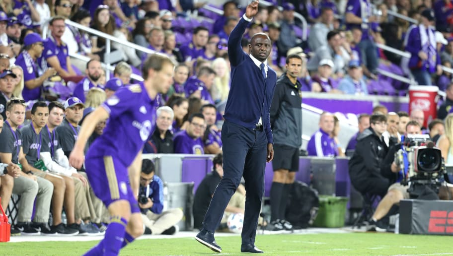 ORLANDO, FL - MARCH 05:  New York City FC head coach Patrick Vieira is seen on the sideline during a MLS soccer match between New York City FC and Orlando City SC at the Orlando City Stadium on March 5, 2017 in Orlando, Florida. (Photo by Alex Menendez/Getty Images)