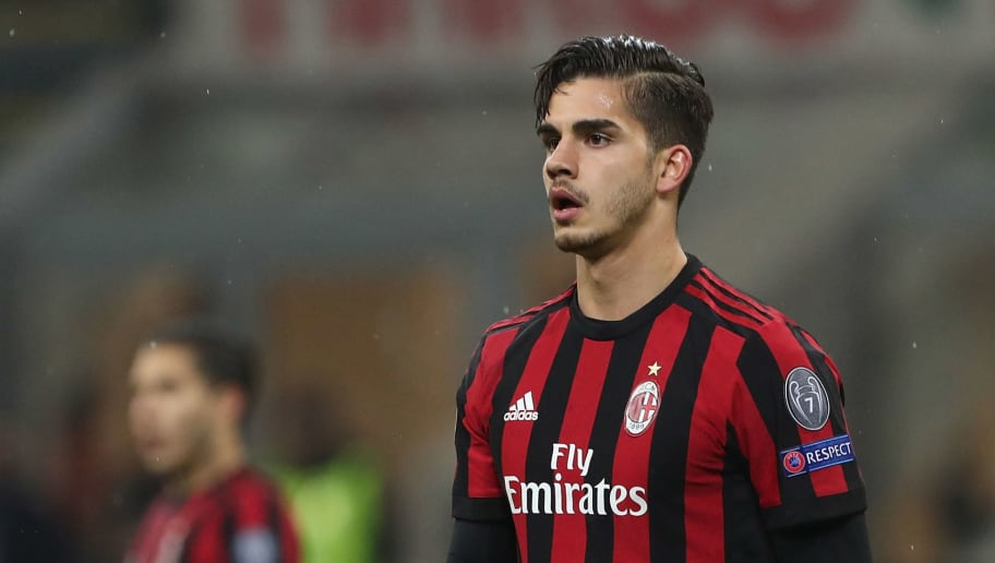 MILAN, ITALY - FEBRUARY 22:  Andre Silva of AC Milan looks on during UEFA Europa League Round of 32 match between AC Milan and Ludogorets Razgrad at the San Siro on February 22, 2018 in Milan, Italy.  (Photo by Marco Luzzani/Getty Images)