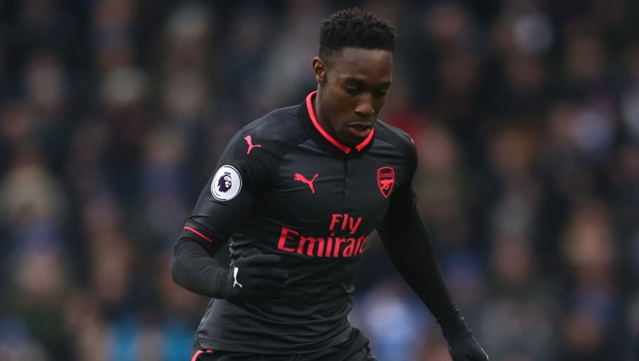 BRIGHTON, ENGLAND - MARCH 04: Danny Welbeck of Arsenal during the Premier League match between Brighton and Hove Albion and Arsenal at Amex Stadium on March 4, 2018 in Brighton, England. (Photo by Catherine Ivill/Getty Images)