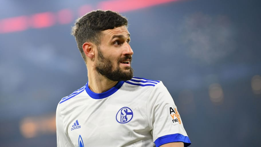 MUNICH, GERMANY - FEBRUARY 10: Daniel Caligiuri of Schalke looks on during the Bundesliga match between FC Bayern Muenchen and FC Schalke 04 at Allianz Arena on February 10, 2018 in Munich, Germany. (Photo by Sebastian Widmann/Bongarts/Getty Images)
