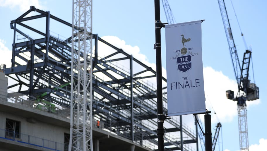 LONDON, ENGLAND - MAY 14:  Final match banners are seen near the new stadium development prior to the Premier League match between Tottenham Hotspur and Manchester United at White Hart Lane on May 14, 2017 in London, England. Tottenham Hotspur are playing their last ever home match at White Hart Lane after their 118 year stay at the stadium. Spurs will play at Wembley Stadium next season with a move to a newly built stadium for the 2018-19 campaign.  (Photo by Richard Heathcote/Getty Images)