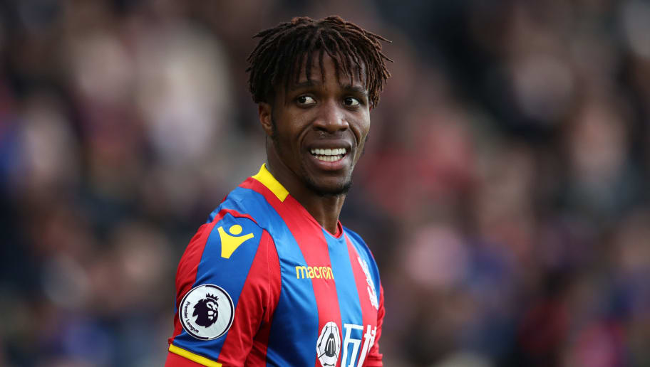 LONDON, ENGLAND - FEBRUARY 04: Wilfried Zaha of Crystal Palace during the Premier League match between Crystal Palace and Newcastle United at Selhurst Park on February 4, 2018 in London, England. (Photo by Catherine Ivill/Getty Images)