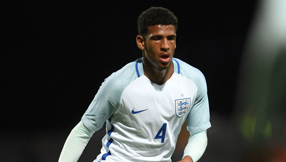 MANSFIELD, ENGLAND - SEPTEMBER 05:  Marcus McGuane of England in action during the International match between England and Germany at One Call Stadium on September 5, 2017 in Mansfield, England.  (Photo by Laurence Griffiths/Getty Images)