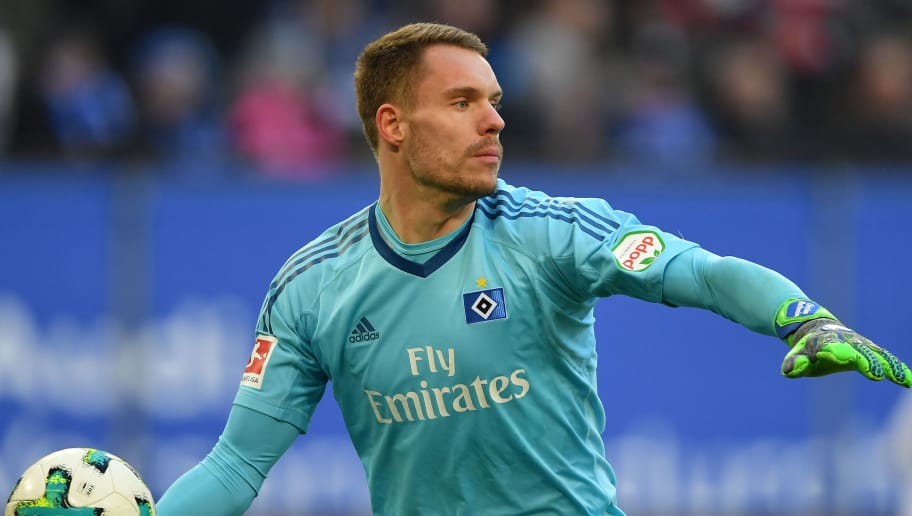 HAMBURG, GERMANY - MARCH 03:  Christian MatheniaÊof Hamburg in  action  during the Bundesliga match between Hamburger SV and 1. FSV Mainz 05 at Volksparkstadion on March 3, 2018 in Hamburg, Germany.  (Photo by Stuart Franklin/Bongarts/Getty Images)