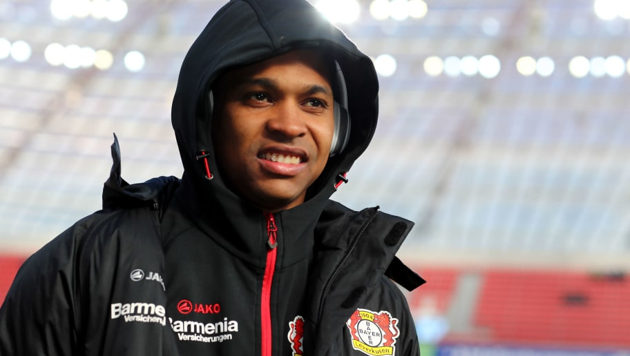 LEVERKUSEN, GERMANY - FEBRUARY 25:  Wendeell of Leverkusen looks on prior to the Bundesliga match between Bayer 04 Leverkusen and FC Schalke 04 at BayArena on February 25, 2018 in Leverkusen, Germany. (Photo by Christof Koepsel/Bongarts/Getty Images)