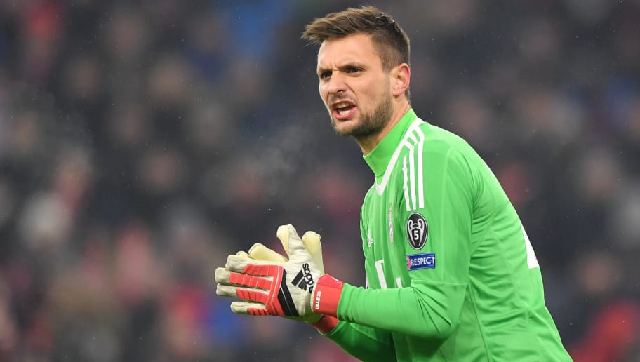 MUNICH, GERMANY - FEBRUARY 20: Goalkeeper Sven Ulreich of Bayern Muenchen gestures during the UEFA Champions League Round of 16 First Leg match between Bayern Muenchen and Besiktas at Allianz Arena on February 20, 2018 in Munich, Germany. (Photo by Sebastian Widmann/Bongarts/Getty Images)