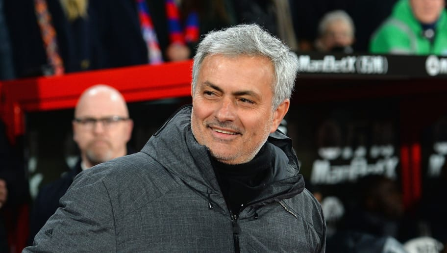 LONDON, ENGLAND - MARCH 05:  Jose Mourinho, Manager of Manchester United during the Premier League match between Crystal Palace and Manchester United at Selhurst Park on March 5, 2018 in London, England.  (Photo by Tony Marshall/Getty Images)