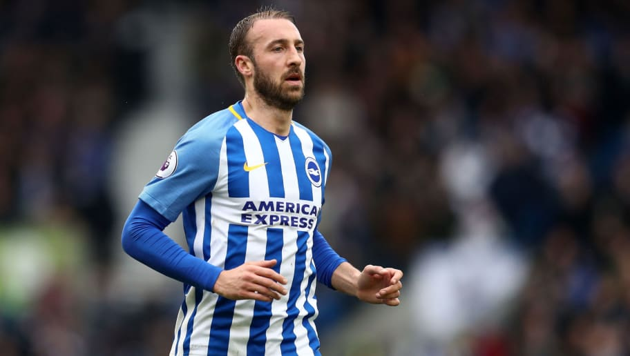 BRIGHTON, ENGLAND - MARCH 04: Glenn Murray of Brighton and Hove Albion during the Premier League match between Brighton and Hove Albion and Arsenal at Amex Stadium on March 4, 2018 in Brighton, England. (Photo by Catherine Ivill/Getty Images)