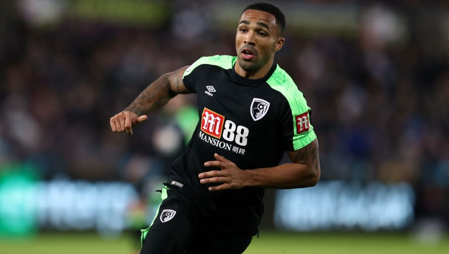 SWANSEA, WALES - NOVEMBER 25: Callum Wilson of AFC Bournemouth during the Premier League match between Swansea City and AFC Bournemouth at Liberty Stadium on November 25, 2017 in Swansea, Wales. (Photo by Catherine Ivill/Getty Images)