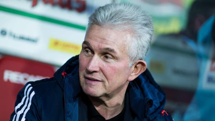 FREIBURG IM BREISGAU, GERMANY - MARCH 04: Head coach Jupp Heynckes of Muenchen looks on during the Bundesliga match between Sport-Club Freiburg and FC Bayern Muenchen at Schwarzwald-Stadion on March 4, 2018 in Freiburg im Breisgau, Germany. (Photo by Simon Hofmann/Bongarts/Getty Images)