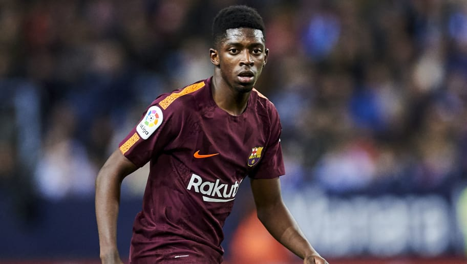 MALAGA, SPAIN - MARCH 10:  Ousmane Dembele of FC Barcelona reacts during the La Liga match between Malaga and Barcelona at Estadio La Rosaleda on March 10, 2018 in Malaga, Spain.  (Photo by Aitor Alcalde/Getty Images)