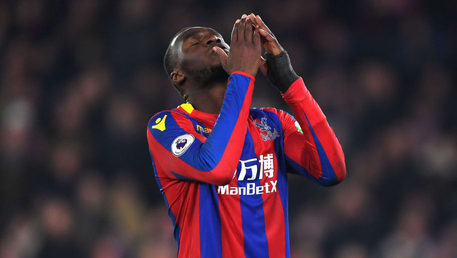 LONDON, ENGLAND - JANUARY 13:  Christian Benteke of Crystal Palace reacts during the Premier League match between Crystal Palace and Burnley at Selhurst Park on January 13, 2018 in London, England.  (Photo by Mike Hewitt/Getty Images)