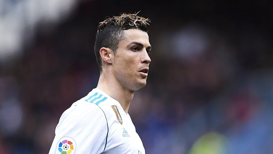 EIBAR, SPAIN - MARCH 10:  Cristiano Ronaldo of Real Madrid reacts during the La Liga match between SD Eibar and Real Madrid at Ipurua Municipal Stadium on March 10, 2018 in Eibar, Spain .  (Photo by Juan Manuel Serrano Arce/Getty Images)
