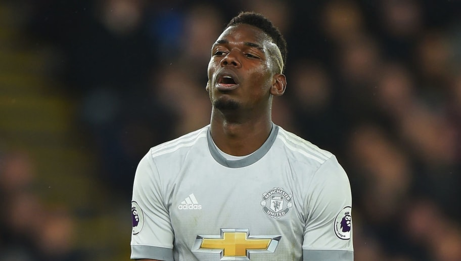 LONDON, ENGLAND - MARCH 05:  Paul Pogba of Manchester United during the Premier League match between Crystal Palace and Manchester United at Selhurst Park on March 5, 2018 in London, England.  (Photo by Tony Marshall/Getty Images)