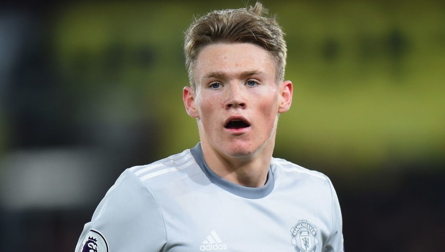 LONDON, ENGLAND - MARCH 05:  Scott McTominay of Manchester United during the Premier League match between Crystal Palace and Manchester United at Selhurst Park on March 5, 2018 in London, England.  (Photo by Tony Marshall/Getty Images)