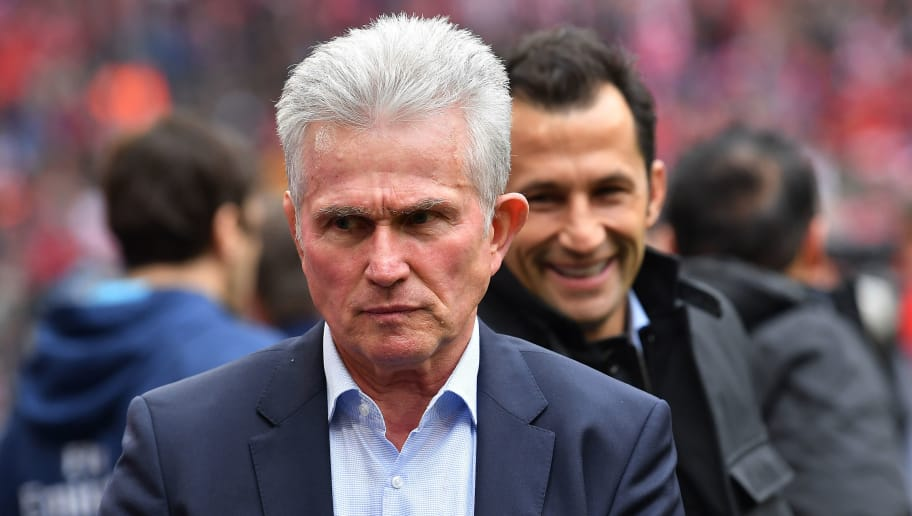 MUNICH, GERMANY - MARCH 10: Jupp Heynckes, head coach of Bayern Muechen, looks on before the Bundesliga match between FC Bayern Muenchen and Hamburger SV at Allianz Arena on March 10, 2018 in Munich, Germany. (Photo by Sebastian Widmann/Bongarts/Getty Images)