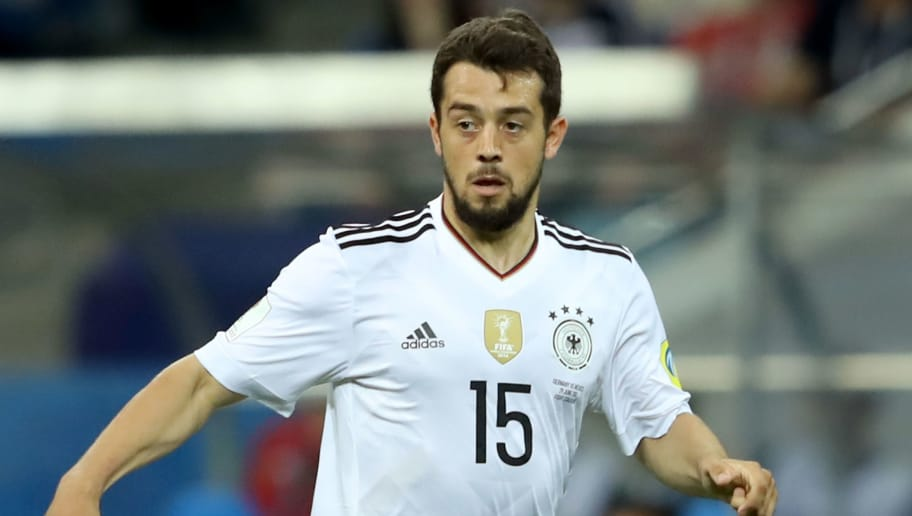 SOCHI, RUSSIA - JUNE 29:  Amin Younes of Germany runs with the ball during the FIFA Confederations Cup Russia 2017 Semi-Final between Germany and Mexico at Fisht Olympic Stadium on June 29, 2017 in Sochi, Russia.  (Photo by Alexander Hassenstein/Bongarts/Getty Images)