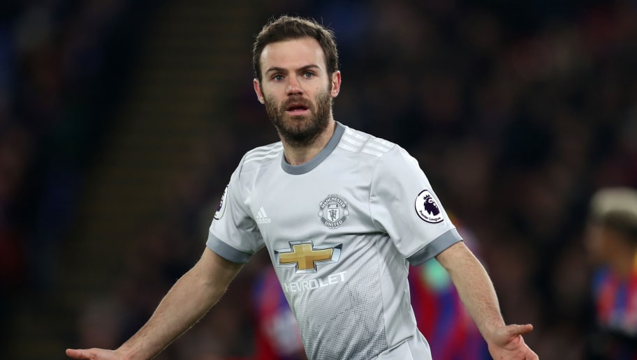 LONDON, ENGLAND - MARCH 05: Juan Mata of Manchester United during the Premier League match between Crystal Palace and Manchester United at Selhurst Park on March 5, 2018 in London, England. (Photo by Catherine Ivill/Getty Images)