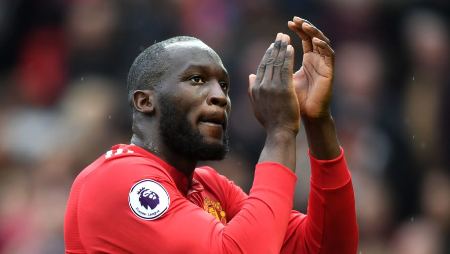 MANCHESTER, ENGLAND - MARCH 10:  Romelu Lukaku of Manchester United applauds fans after the Premier League match between Manchester United and Liverpool at Old Trafford on March 10, 2018 in Manchester, England.  (Photo by Michael Regan/Getty Images)