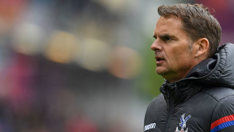 Crystal Palace's Dutch manager Frank de Boer looks on at full-time of the English Premier League football match between Burnley and Crystal Palace at Turf Moor in Burnley, north west England on September 10, 2017. / AFP PHOTO / Paul ELLIS / RESTRICTED TO EDITORIAL USE. No use with unauthorized audio, video, data, fixture lists, club/league logos or 'live' services. Online in-match use limited to 75 images, no video emulation. No use in betting, games or single club/league/player publications.  /         (Photo credit should read PAUL ELLIS/AFP/Getty Images)