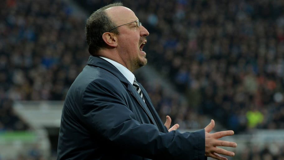 NEWCASTLE UPON TYNE, ENGLAND - MARCH 10: Newcastle manager Rafa Benitez on the touch line during the Premier League match between Newcastle United and Southampton at St. James Park on March 10, 2018 in Newcastle upon Tyne, England. (Photo by Mark Runnacles/Getty Images)