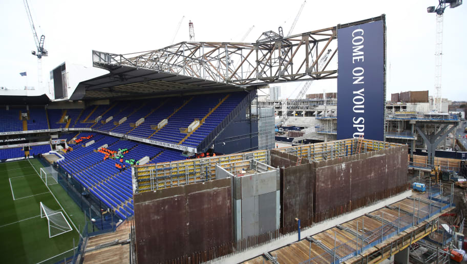 LONDON, ENGLAND - JANUARY 14:  General view of the re-development site prior to the Premier League match between Tottenham Hotspur and West Bromwich Albion at White Hart Lane on January 14, 2017 in London, England.  (Photo by Julian Finney/Getty Images)
