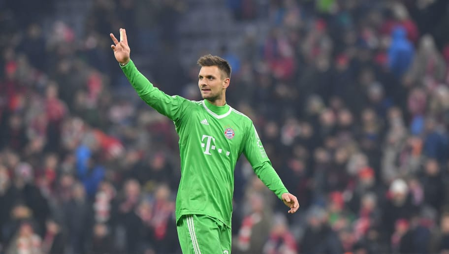 MUNICH, GERMANY - FEBRUARY 10: Sven Ulreich of Bayern Muenchen waves after the Bundesliga match between FC Bayern Muenchen and FC Schalke 04 at Allianz Arena on February 10, 2018 in Munich, Germany. (Photo by Sebastian Widmann/Bongarts/Getty Images)