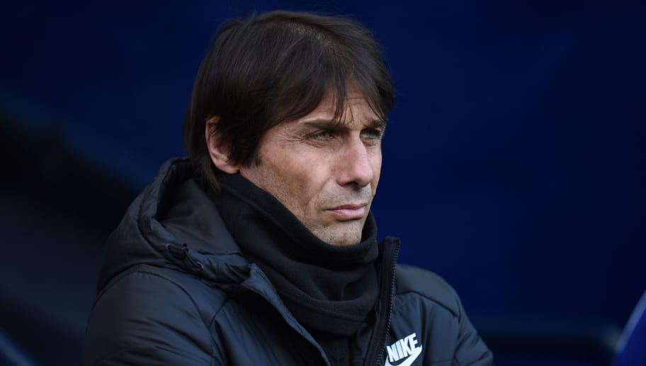 Chelsea's Italian head coach Antonio Conte looks on before the English Premier League football match between Manchester City and Chelsea at the Etihad Stadium in Manchester, north west England on March 4, 2018. / AFP PHOTO / Oli SCARFF / RESTRICTED TO EDITORIAL USE. No use with unauthorized audio, video, data, fixture lists, club/league logos or 'live' services. Online in-match use limited to 75 images, no video emulation. No use in betting, games or single club/league/player publications.  /         (Photo credit should read OLI SCARFF/AFP/Getty Images)