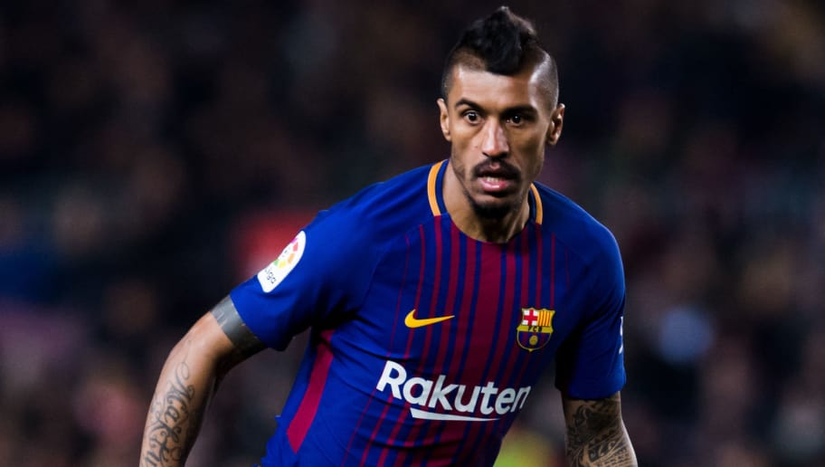 BARCELONA, SPAIN - FEBRUARY 24:  Paulinho of FC Barcelona conducts the ball during the La Liga match between Barcelona and Girona at Camp Nou on February 24, 2018 in Barcelona, Spain.  (Photo by Alex Caparros/Getty Images)