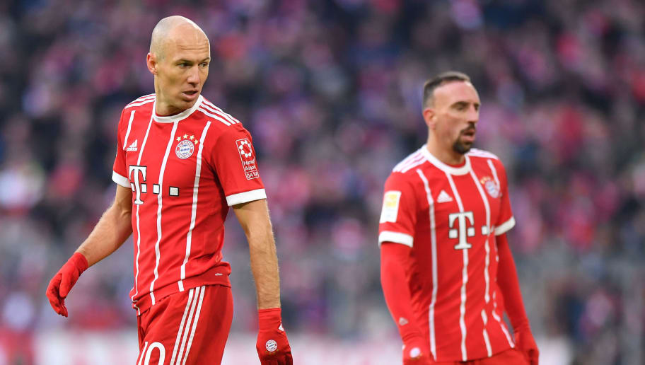 MUNICH, GERMANY - JANUARY 21: Arjen Robben of Bayern Muenchen looks over his shoulder during the Bundesliga match between FC Bayern Muenchen and SV Werder Bremen at Allianz Arena on January 21, 2018 in Munich, Germany. (Photo by Sebastian Widmann/Bongarts/Getty Images)