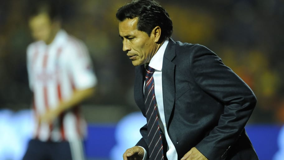 MONTERREY, MEXICO - MARCH 16:  Benjamín Galindo coach of Chivas walks during the match between Tigres and Chivas as part of the Clausura 2013 Liga MX on March 16, 2013 in Monterrey, Mexico. (Photo by Jorge Perez/LatinContent/Getty Images)