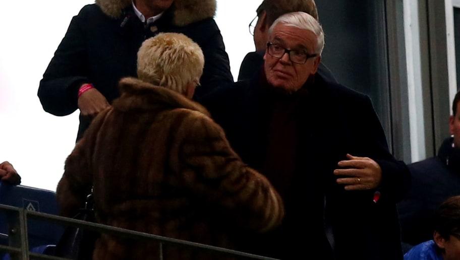 HAMBURG, GERMANY - NOVEMBER 20:  Klaus Michael Kuehne, CEo of Kuehne&Nagel logistics attends the Bundesliga match between Hamburger SV and Borussia Dortmund at Volksparkstadion on November 20, 2015 in Hamburg, Germany.  (Photo by Martin Rose/Bongarts/Getty Images)