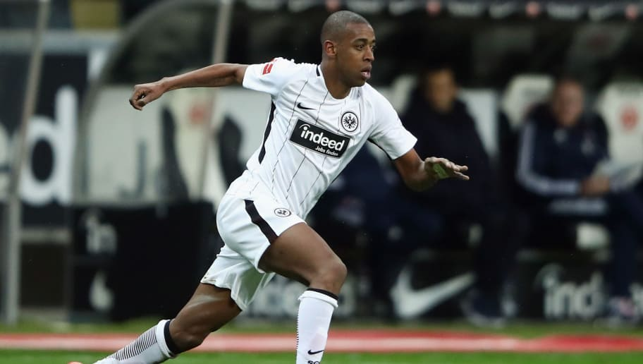 FRANKFURT AM MAIN, GERMANY - DECEMBER 09: Gelson Fernandes of Frankfurt controls the ball during the Bundesliga match between Eintracht Frankfurt and FC Bayern Muenchen at Commerzbank-Arena on December 9, 2017 in Frankfurt am Main, Germany.  (Photo by Alex Grimm/Bongarts/Getty Images)