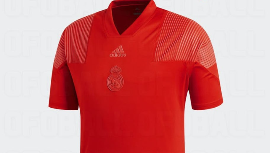 51007af4b29 PHOTO  Designs for Real Madrid s  Tango Red  3rd Strip for 2018 19 Season  Leak Online