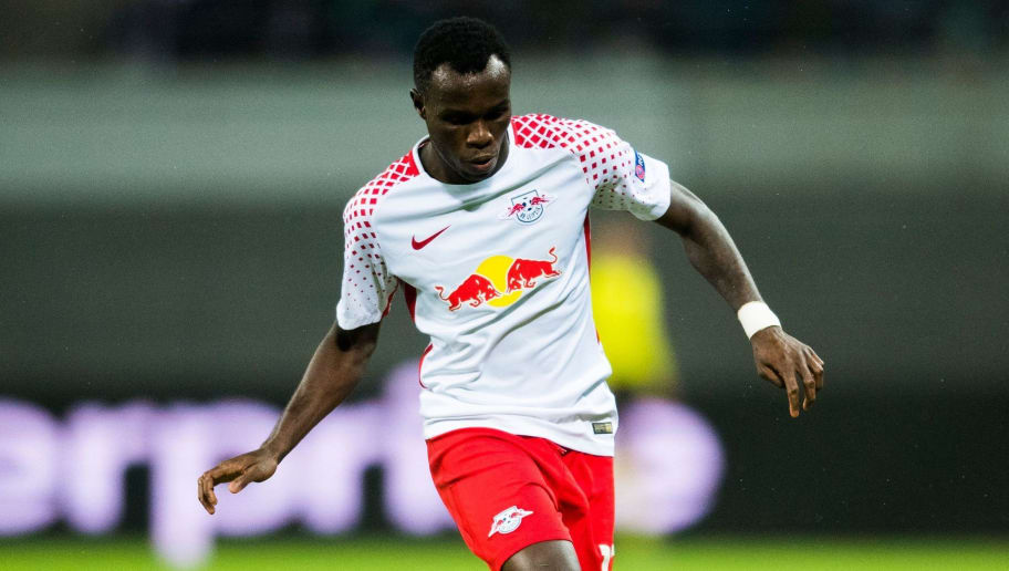 Leipzig's Portuguese forward Bruma plays the ball during the Europa League Round of 16 first leg football match between Zenit Saint Petersburg and RB Leipzig on March 8, 2018 in Leipzig, eastern Germany. / AFP PHOTO / ROBERT MICHAEL        (Photo credit should read ROBERT MICHAEL/AFP/Getty Images)