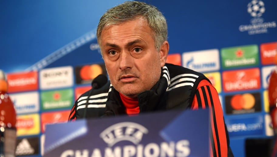 d4aafa608d5 Manchester United s Portuguese manager Jose Mourinho attends a press  conference following a team training session