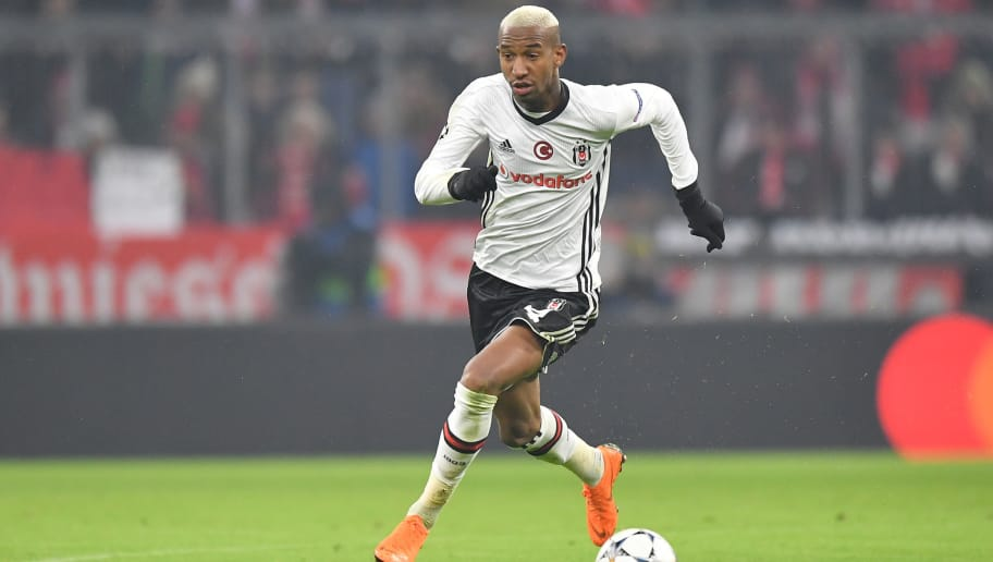 MUNICH, GERMANY - FEBRUARY 20: Talisca of Besiktas plays the ball during the UEFA Champions League Round of 16 First Leg match between Bayern Muenchen and Besiktas at Allianz Arena on February 20, 2018 in Munich, Germany. (Photo by Sebastian Widmann/Bongarts/Getty Images)