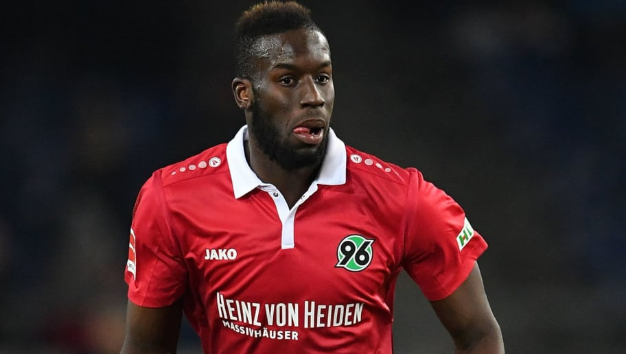 HANOVER, GERMANY - DECEMBER 17:  Salif Sane of Hannover in action during the Bundesliga match between Hannover 96 and Bayer 04 Leverkusen at HDI-Arena on December 17, 2017 in Hanover, Germany.  (Photo by Stuart Franklin/Bongarts/Getty Images)