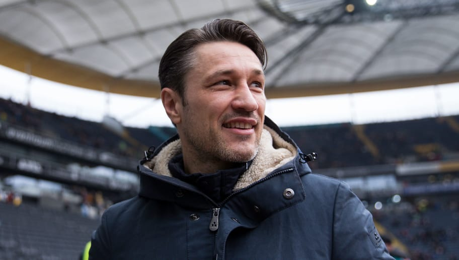 FRANKFURT AM MAIN, GERMANY - MARCH 03: Head Coach Niko Kovac of Eintracht Frankfurt looks on prior the Bundesliga match between Eintracht Frankfurt and Hannover 96 at Commerzbank-Arena on March 3, 2018 in Frankfurt am Main, Germany. (Photo by Maja Hitij/Bongarts/Getty Images)