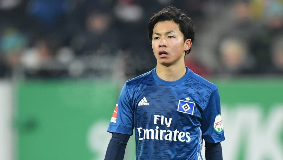 AUGSBURG, GERMANY - JANUARY 13: Tatsuya Ito of Hamburg looks on during the Bundesliga match between FC Augsburg and Hamburger SV at WWK-Arena on January 13, 2018 in Augsburg, Germany. (Photo by Sebastian Widmann/Bongarts/Getty Images)