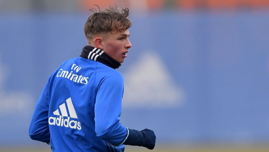HAMBURG, GERMANY - MARCH 07:  Jann-Fiete Arp of Hamburg in action during a training session of Hamburger SV at Volksparkstadion on March 7, 2018 in Hamburg, Germany.  (Photo by Stuart Franklin/Bongarts/Getty Images)