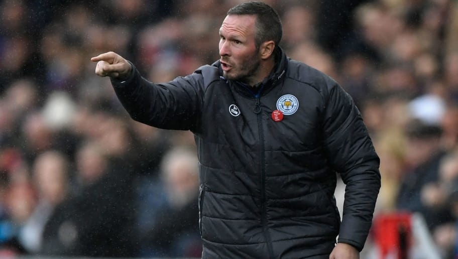 SWANSEA, WALES - OCTOBER 21:  Leicester caretaker Manager Michael Appleton reacts during the Premier League match between Swansea City and Leicester City at Liberty Stadium on October 21, 2017 in Swansea, Wales.  (Photo by Stu Forster/Getty Images)