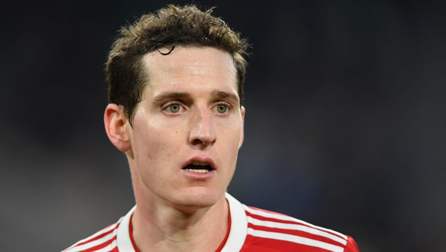 WOLFSBURG, GERMANY - FEBRUARY 17:  Sebastian Rudy of Muenchen looks on during the Bundesliga match between VfL Wolfsburg and FC Bayern Muenchen at Volkswagen Arena on February 17, 2018 in Wolfsburg, Germany.  (Photo by Stuart Franklin/Bongarts/Getty Images)